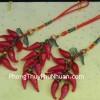 Ngọc bội ớt đỏ treo S223-1