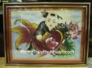 Tranh Đồng tử ôm cá TNV01
