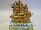 Thuyền rồng mạ vàng nhỏ K167M