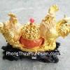 Gia đình gà trên hũ vàng G002A