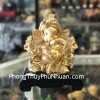 Thần đầu voi Ganesha vàng kim K177M