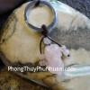 Móc khóa tỳ hưu thạch anh hồng S6017