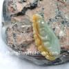 Ngọc bội may mắn phỉ thúy xanh đậm A+++ S6505-4116