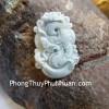 Mặt 12 con giáp Phỉ Thúy xanh nhỏ Tuổi Thìn S6641-5