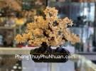 Cây thạch anh vàng lớn dáng đại thụ KC104