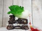 Bắp cải xanh trên đế gỗ tỳ hưu LN082