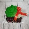 Bắp cải xanh đế gỗ linh chi, nguyên bảo LN084