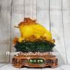 Thiềm thừ vàng ngọc lưu ly trên bụi sen đế gỗ xoay lớn LN087