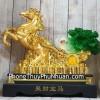 Thần ngựa vàng khủng kéo xe bắp cải xanh LN120