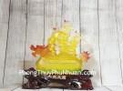 Thuyền rồng lưu ly trên đế gỗ Nhất Phàm Phong Thuận LN142