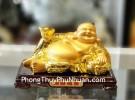 Phật di lạc tay cầm nén vàng trên túi tiền LN190