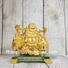 Phật di lạc vàng gánh thùng tiền LN191