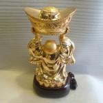 phat di lac H240G 2 150x150 Phật Di Lặc đứng vàng H240G