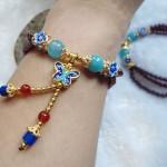 chuoi hat luu buom xanh S6269 3 150x150 Chuỗi hột lựu hợp kim hình bướm S6269
