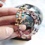 chuoi hong luc bao doi xanh S6278 150x150 Chuỗi hồng lục bảo hợp kim dơi đồng tiền S6278