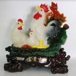 g018a gia dinh ga trang ben sen 150x150 Gia đình gà bên sen màu ngọc trắng G018A
