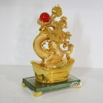 g093a rong vang chau do 1 150x150 Rồng vàng phun châu trên kim bảo lớn G093A