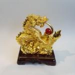 C077A rong vang 3 150x150 Rồng vàng phun châu đồng tiền C077A