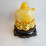 C132A di lac vang cam 3 150x150 Phật di lạc vàng cam đế xoay C132A