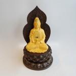 C138A phat ba sa kim 150x150 Phật quan âm vàng sa kim đế gỗ C138A