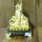 c034a cho san vang 150x150 Chó săn nhỏ trên như ý đế thủy tinh C034A