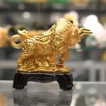 c114a trau vang 2 150x150 Trâu vàng trên tiền đế gỗ C114A