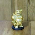 c136a phat di lac vang nho 1 150x150 Phật di lạc vàng vác bao vàng dán xe nhỏ C136A