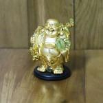 c136a phat di lac vang nho 150x150 Phật di lạc vàng vác bao vàng dán xe nhỏ C136A