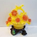 C196A hoa mau don 150x150 Giỏ mẫu đơn vàng hoa đỏ C196A