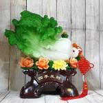 ln064 bap cai xanh khung mau don 2 150x150 Bắp cải xanh khủng trên bụi mẫu đơn đế gỗ LN064