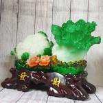ln070 bap cai su lo lon 150x150 Bắp cải và hoa cải xanh trên bụi mẫu đơn lưu ly đế gỗ lớn LN070