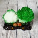 ln071 bap cai su lo nho 1 150x150 Bắp cải và hoa cải xanh trên bụi mẫu đơn lưu ly đế gỗ nhỏ LN071