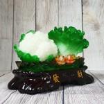ln071 bap cai su lo nho 150x150 Bắp cải và hoa cải xanh trên bụi mẫu đơn lưu ly đế gỗ nhỏ LN071