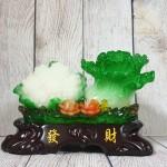 ln071 bap cai su lo nho 2 150x150 Bắp cải và hoa cải xanh trên bụi mẫu đơn lưu ly đế gỗ nhỏ LN071