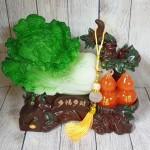 ln072 bap cai ho lo 1 150x150 Bắp cải xanh lớn bên cây hồ lô hồng đế gỗ LN072