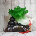 ln076 bap cai cuon nhu y 2 150x150 Bắp cải xanh lớn uốn như ý trên hồ lô gỗ LN076