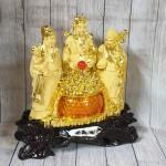 ln112 tam da sa kim vang 1 150x150 Tam đa phước lộc thọ vàng kim sa bên hũ vàng lưu ly LN112