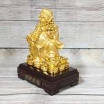 ln189 di lac cam ho lo vang 150x150 Phật di lạc cầm hồ lô và túi tiền vàng LN189