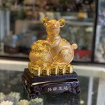 Chuột vàng ôm lư vàng trên đống vàng TM008