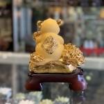 Chuột vàng trên túi vàng ôm như ý TM015
