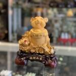 Chuột vàng ôm đỉnh vàng trên gậy như ý TM016