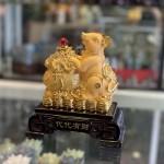 Chuột vàng kim sa ôm túi vàng TM017