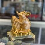 Chuột đế thuỷ tinh ôm bằng vàng TM019